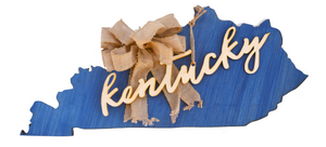 Solid Wood KY with embellishment