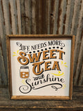Wooden framed sign 12x12