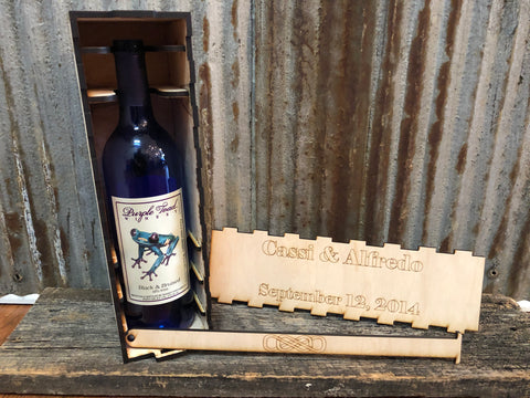 Locking wine box