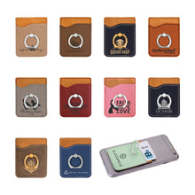 Load image into Gallery viewer, Leatherette Phone Wallet with Ring