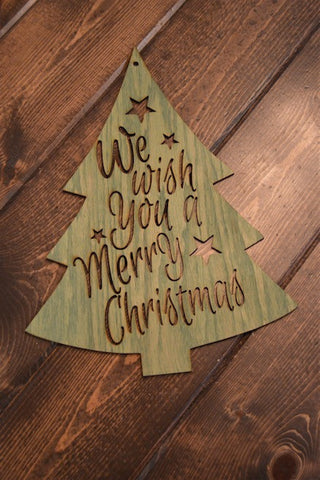 We Wish You A Merry Christmas Tree Door Decor