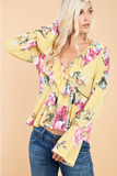 Yellow Floral Boho Top INSTOCK