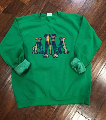 24hr Comfort Colors Appliqués sweatshirt PREORDER