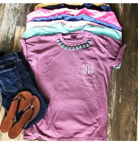 Comfort Colors Monogram SS Pocket Tee