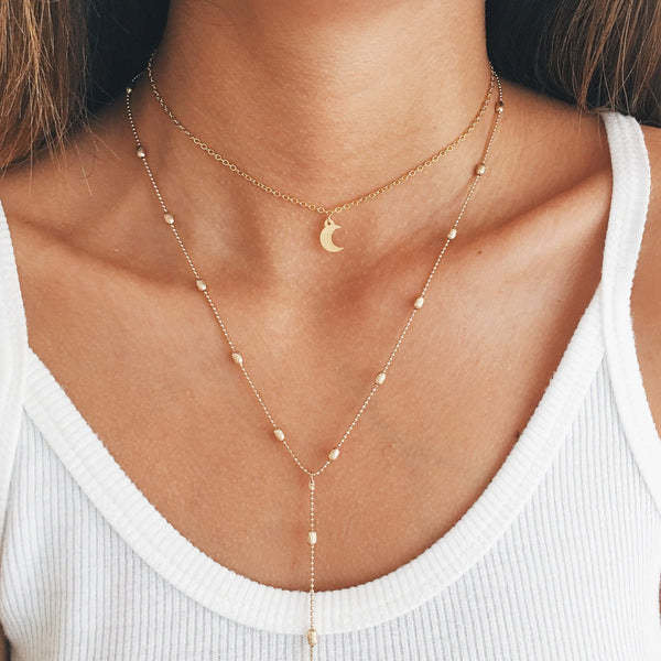 Hazel Drop Lariat