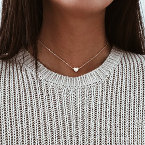 Gold Heart Chain Choker Chokers - Stargaze Jewelry