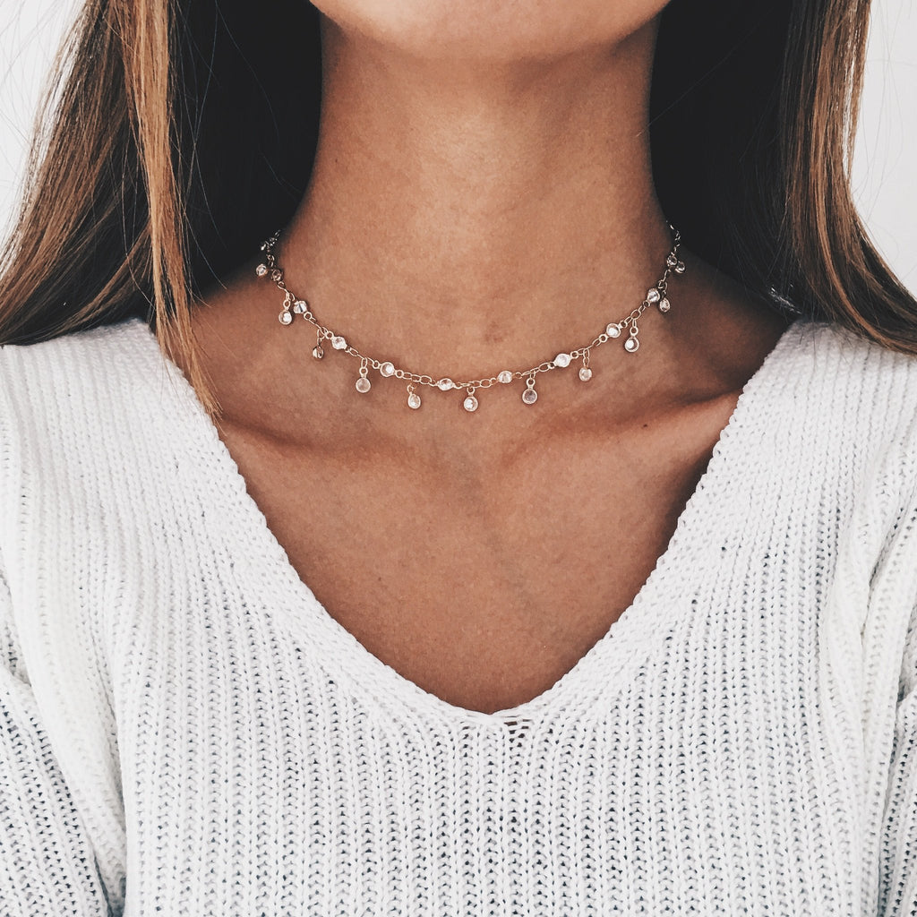 Diamond Lily Choker