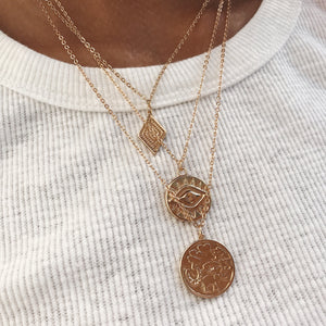 Evil Eye Coin Necklace Necklaces - Stargaze Jewelry