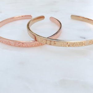 Keep Moving Forward Cuff Bracelets - Stargaze Jewelry