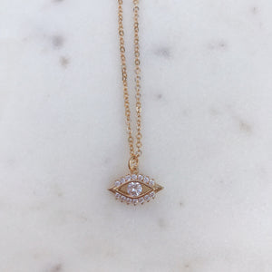 Diamond Evil Eye Necklace Necklaces - Stargaze Jewelry