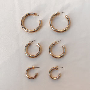 Gold Chunky Hoops Earrings - Stargaze Jewelry