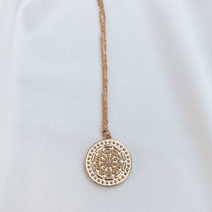 Mandala Coin Necklace Necklaces - Stargaze Jewelry