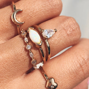 Teardrop Ring Rings - Stargaze Jewelry