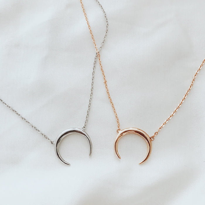 Double Horn Necklace Necklaces - Stargaze Jewelry