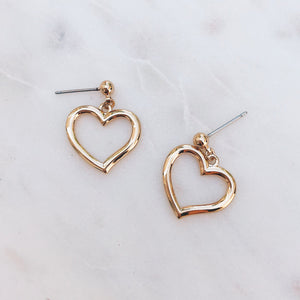 Dainty Heart Earrings Earrings - Stargaze Jewelry