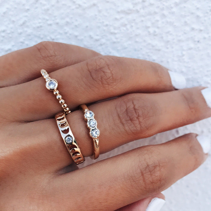 Hello Moon Ring Rings - Stargaze Jewelry