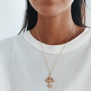 Chloe Cross Necklace Necklaces - Stargaze Jewelry