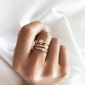 Starlight Ring Set Rings - Stargaze Jewelry