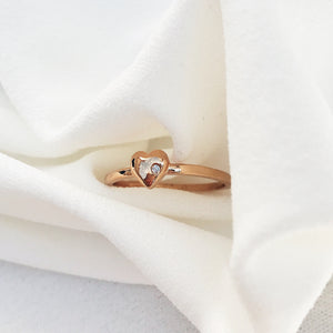 Diamond Heart Ring Rings - Stargaze Jewelry