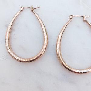 Tear Drop Hoop Earrings Earrings - Stargaze Jewelry
