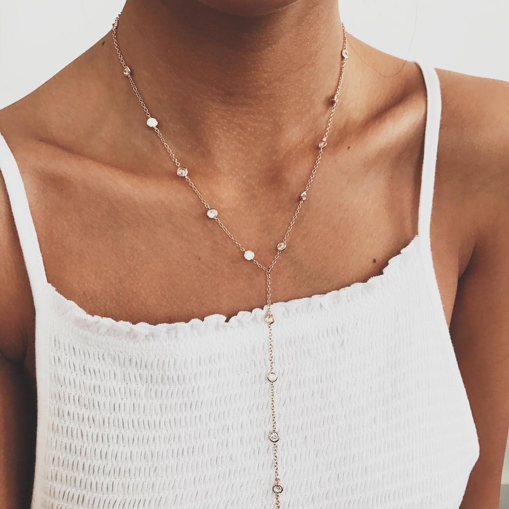 Diamond Lariat Necklaces - Stargaze Jewelry