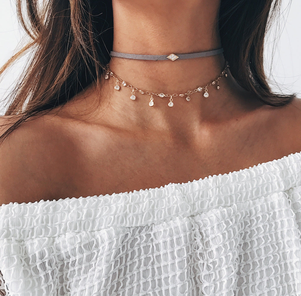 Diamond Lily Choker Chokers - Stargaze Jewelry