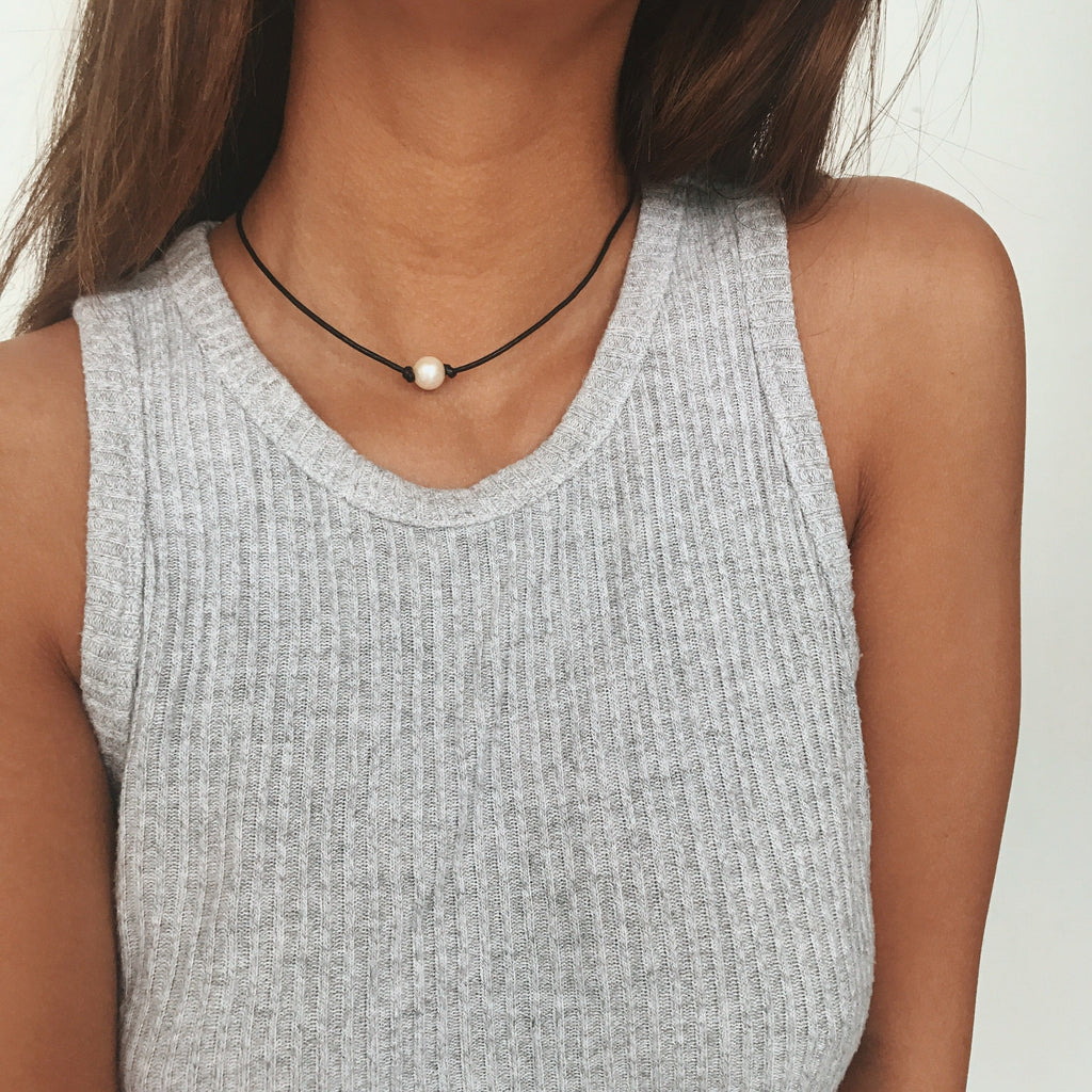 White Pearl Choker Chokers - Stargaze Jewelry