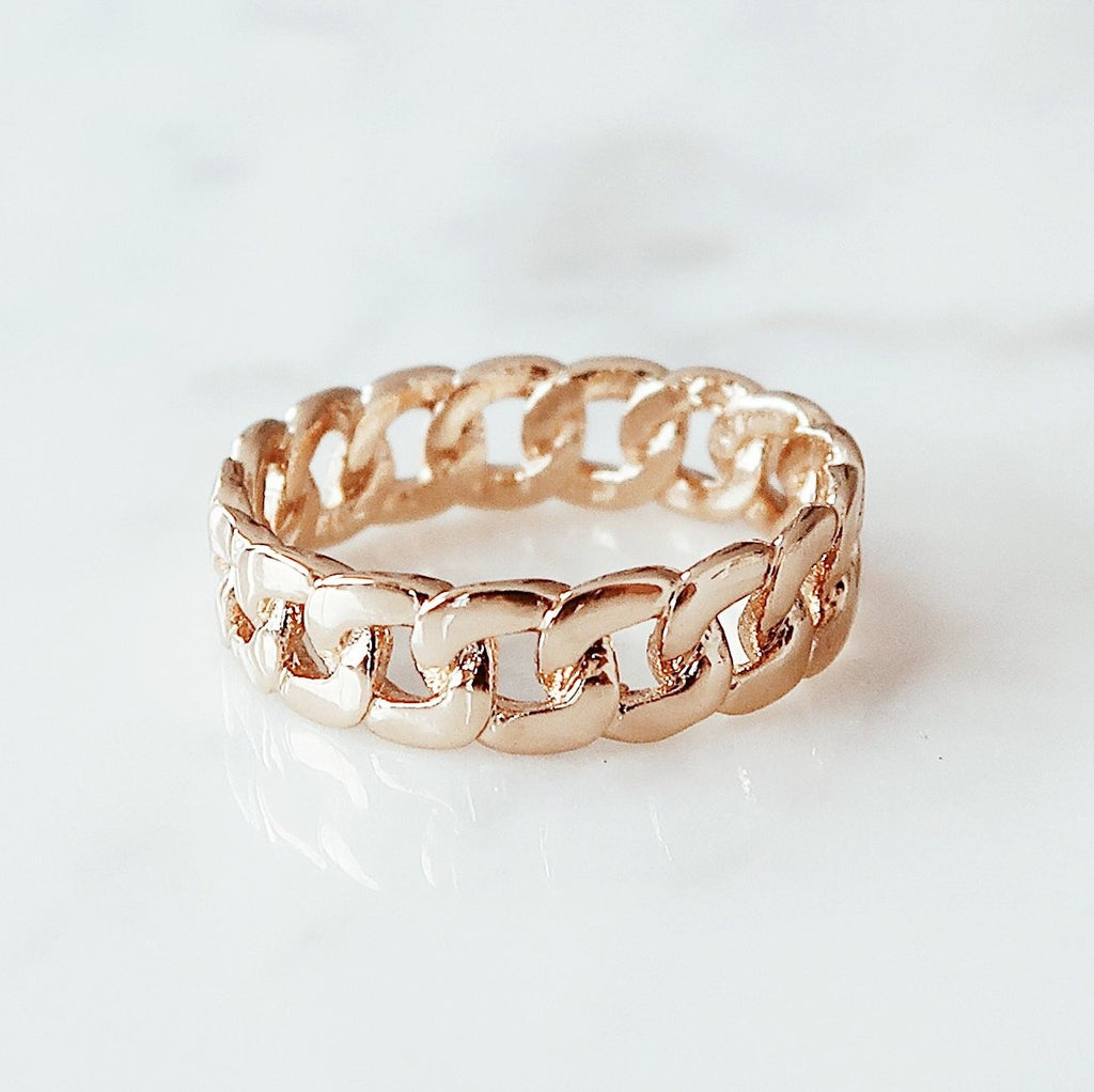 Cuban Link Ring Rings - Stargaze Jewelry