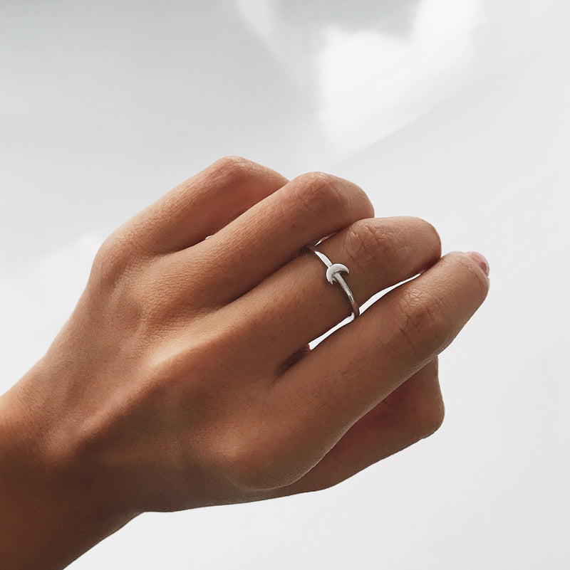 Dainty Moonlight Ring