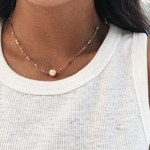 Rose Pearl Necklace Necklaces - Stargaze Jewelry