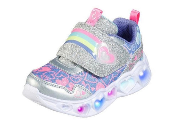 Skechers Girls Heart Lights Lovie Dovie Trainers