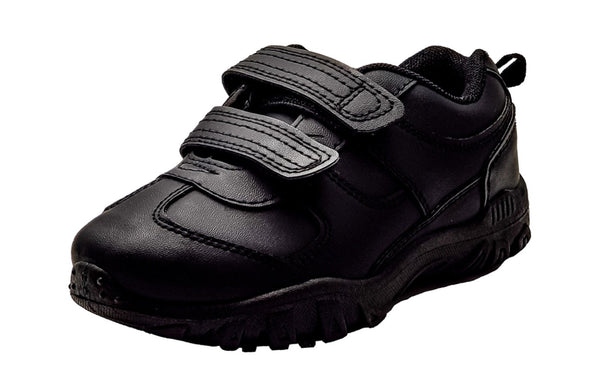 Boys School Shoes Chatterbox Black Leather Shoes with Thick Chunky Soles