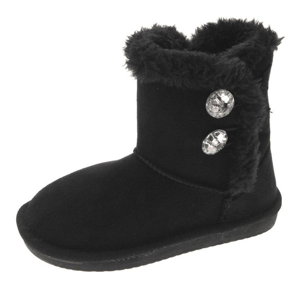 Girls Warm Fur Lined Fashion Boots in Black or Brown