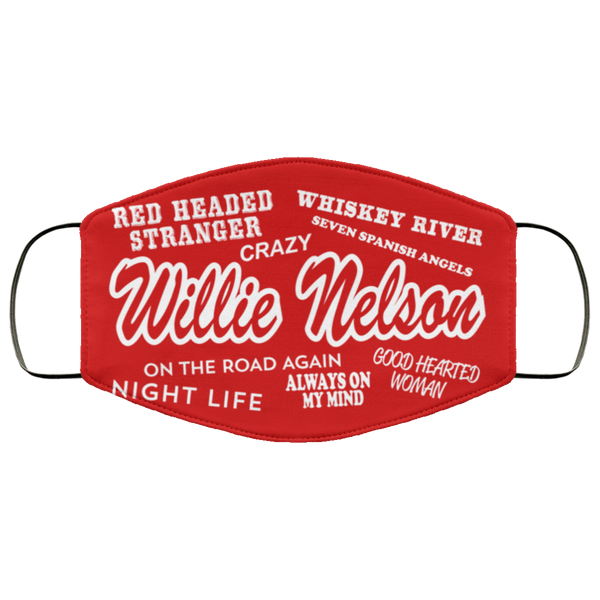 Willie Nelson Classic Songs Face Mask
