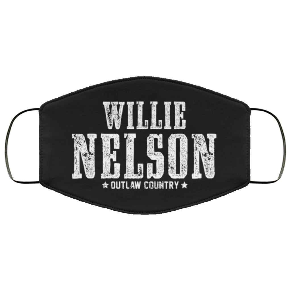 Willie Nelson Outlaw Country Face Mask