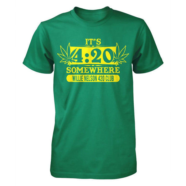 Willie Nelson 420 Somewhere Mens T-Shirt