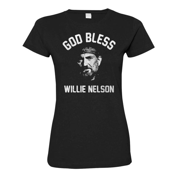 God Bless Willie Nelson Ladies Tee