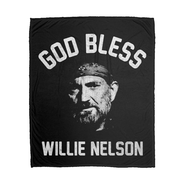 God Bless Willie Nelson Fleece Blanket