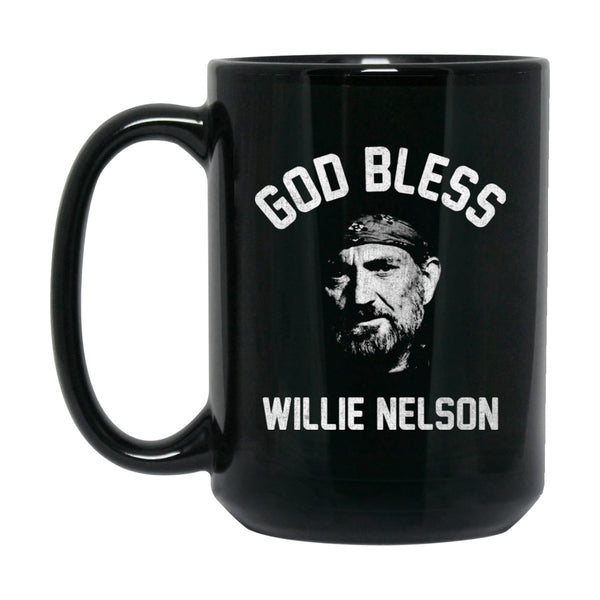 God Bless Willie Nelson Mug