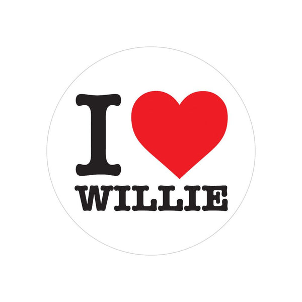 I heart Willie Sticker
