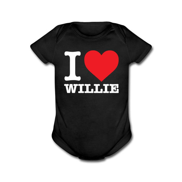 I Heart Willie Black Onesie