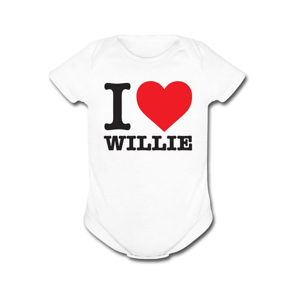 I Heart Willie White Onesie