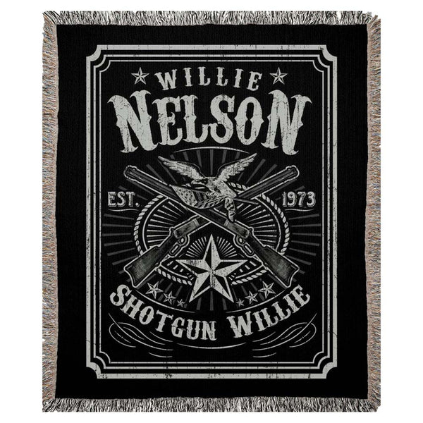 Shotgun Willie Woven Blanket