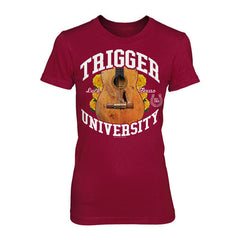 Trigger University Ladies Maroon Tee