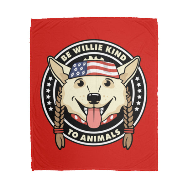 Be Willie Kind to Animals Fleece Blanket