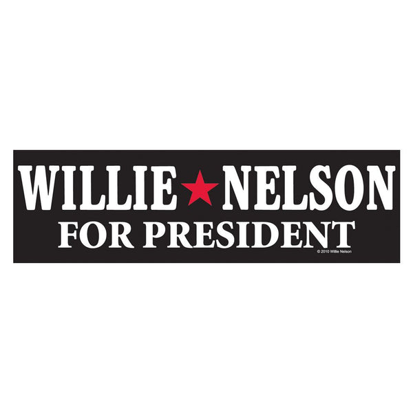 Official Willie Nelson for President Sticker