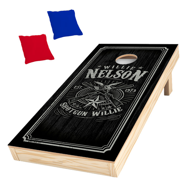 Willie Nelson Cornhole Set