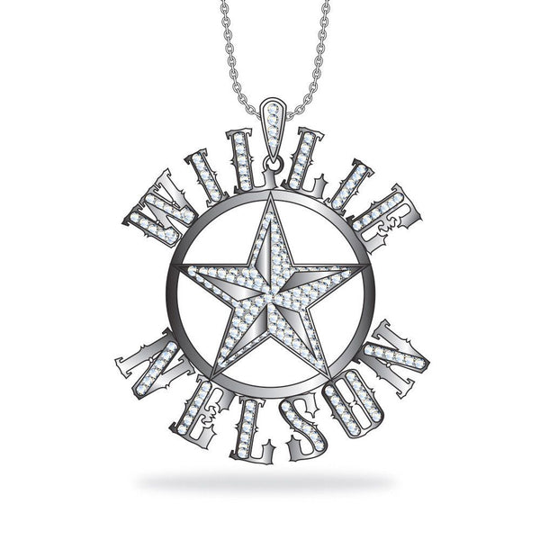 Willie Nelson Crystal Pendant