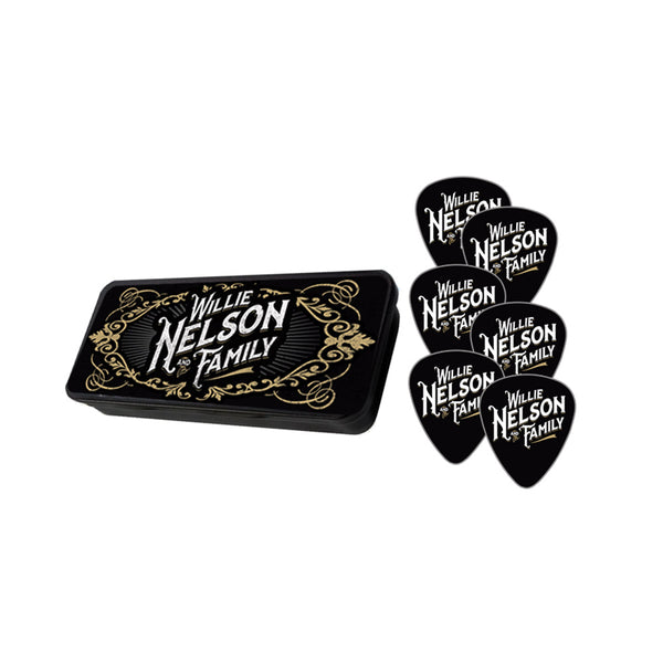 Willie Nelson and Family Guitar Pic Tin Set