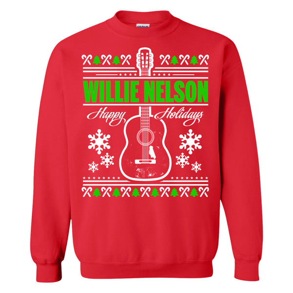 Willie Nelson Holiday Sweatshirt